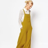 Mustard Pinafore Jumpsuit