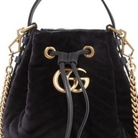 The Velvet Bucket Bag