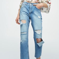 Straight Ripped Jeans