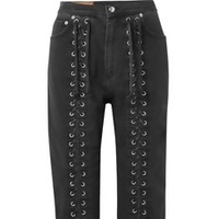 Rebel Lace-Up Jeans